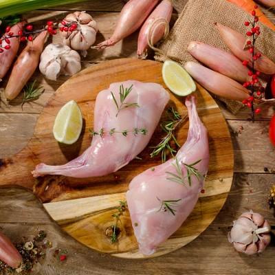 Sugestie de prezentare pentru Pulpă de iepure domestic