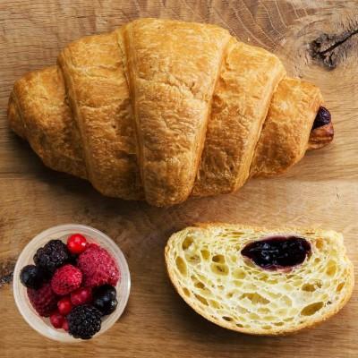 Sugestie de prezentare pentru Croissant mini cu fructe de pădure, 2 kg vrac